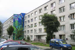 Nowa Huta jako miasto-maszyna na zwycięskim muralu