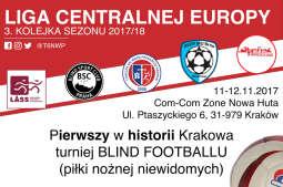 Liga Centralnej Europy w blind footballu zawita do Krakowa