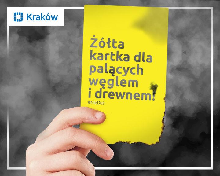 Żółta kartka dla mieszkańców palących w piecach