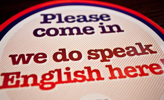 We do speak English here!