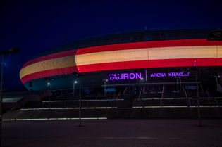 Krakow lights up in solidarity with Spain, France and Germany