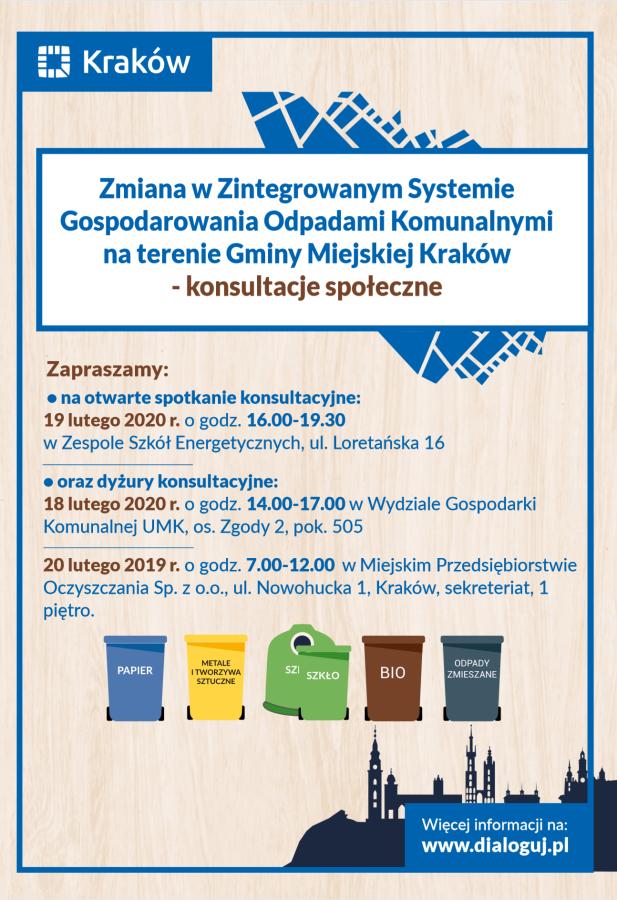 konsultacje odpady plakat