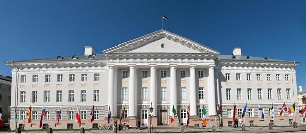 Tartu - budynek Parlamentu Estonii